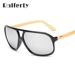 823a861b434 Ralferty Vintage Mens Wood Sunglasses Brand Designer Bamboo Sun Glasses For  Men Oversized Mirrored Goggles Sport Shades lunette