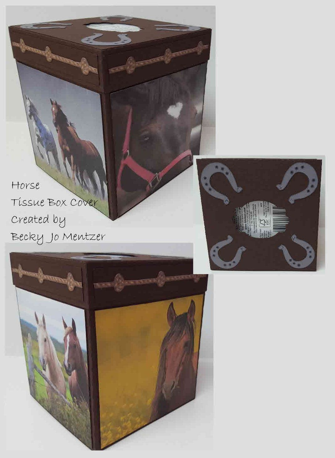 Horse Tissue Box Cover