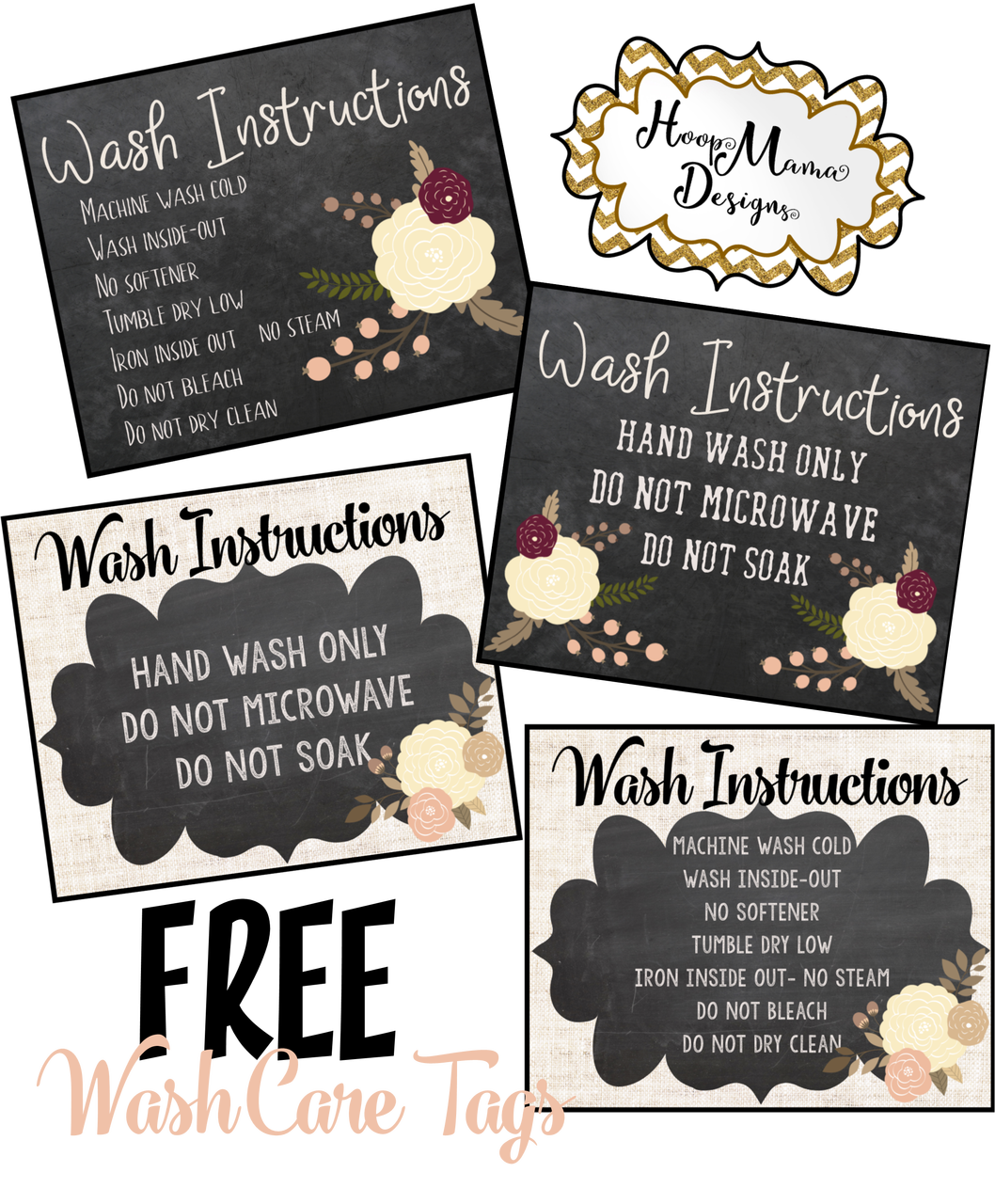 Wash Care Instruction Tags (With images) Cricut free