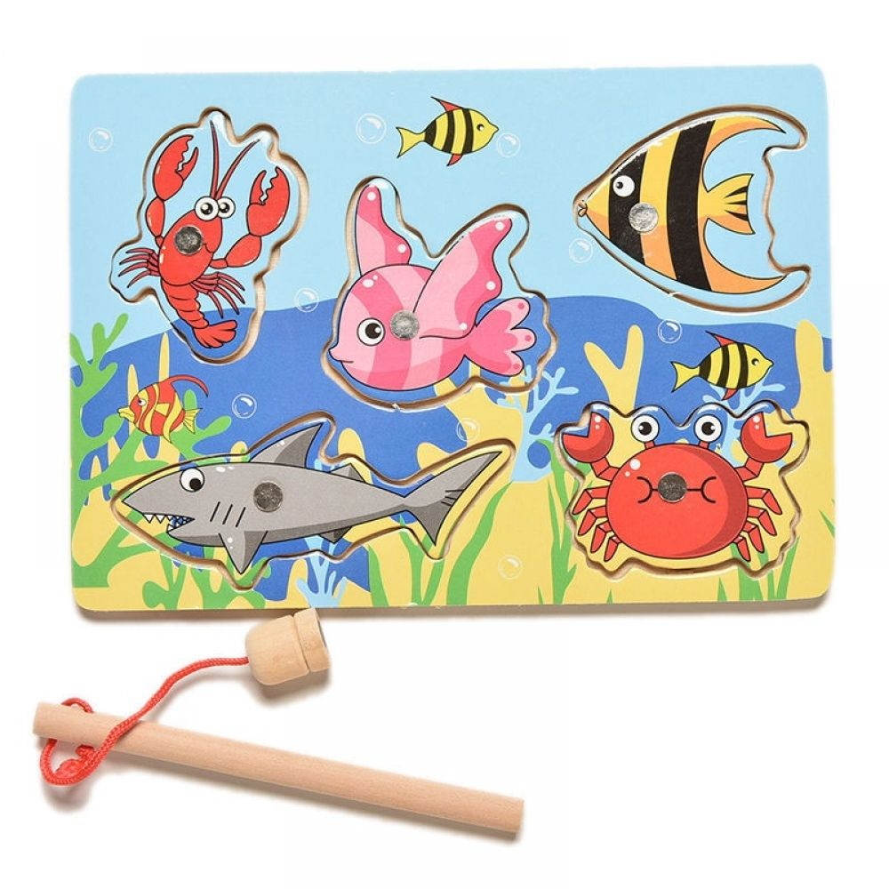 Fishing Floater Puzzle Toys Fishing Game Develop Kid Cognitive Marine Biological
