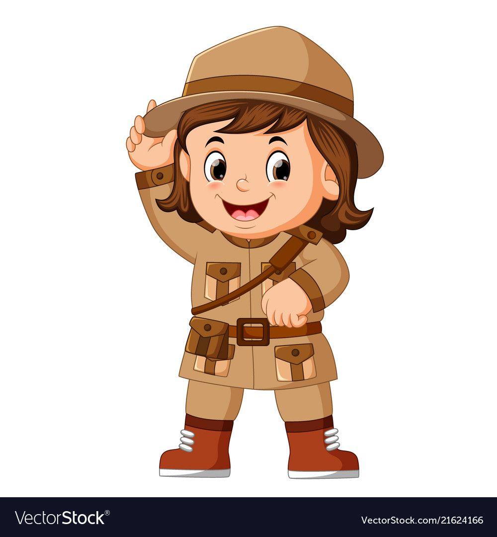 Illustration Of Cartoon Little Girl Scout Download A Free Preview Or High Quality Adobe Illustrator Ai Eps Pdf And High R Girl Scouts Scout Cartoon Clip Art