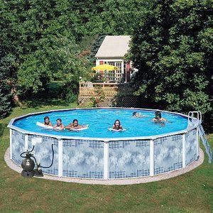 Heritage Round 24 X 52 Deep Gold Above Ground Swimming Pool Walmart Com Above Ground Swimming Pools In Ground Pools Swimming Pools