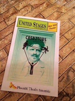 The Secret Victorianist reviews Creditors by August Strindberg at Phoenix Theatre Ensemble in New York