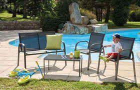 Salon de jardin Pylos - 4 places - Gris - OZALIDE | La ...