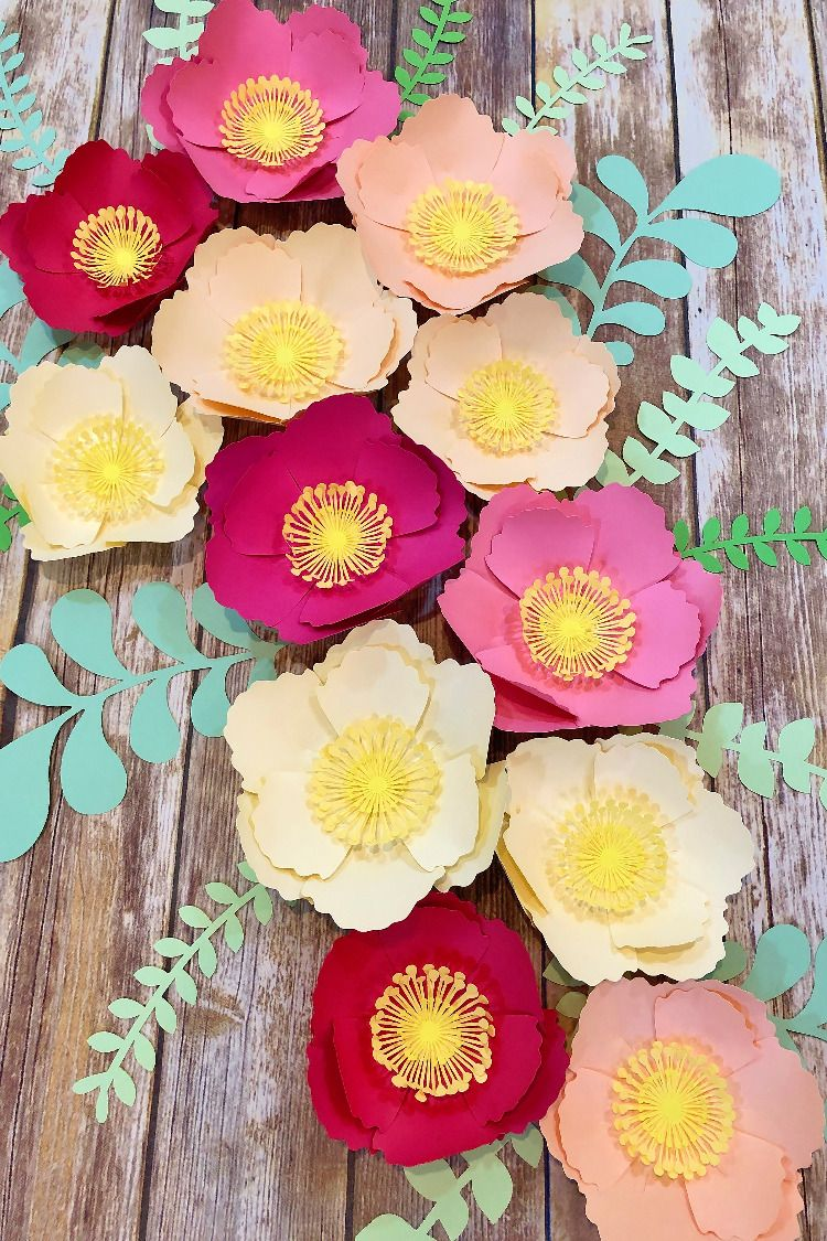 Large Paper Flower Set Of 6 Or 12 Decorative Wall Hanging Baby