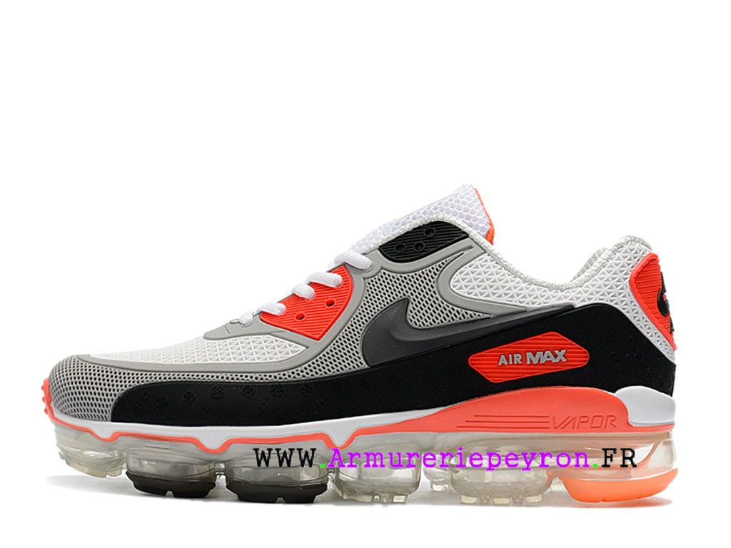 reputable site 4844c f6cad 2018 Off White X Nike Air Max 90 Coussin dair Chaussures Nike LifeStyle  Homme Blanc noir