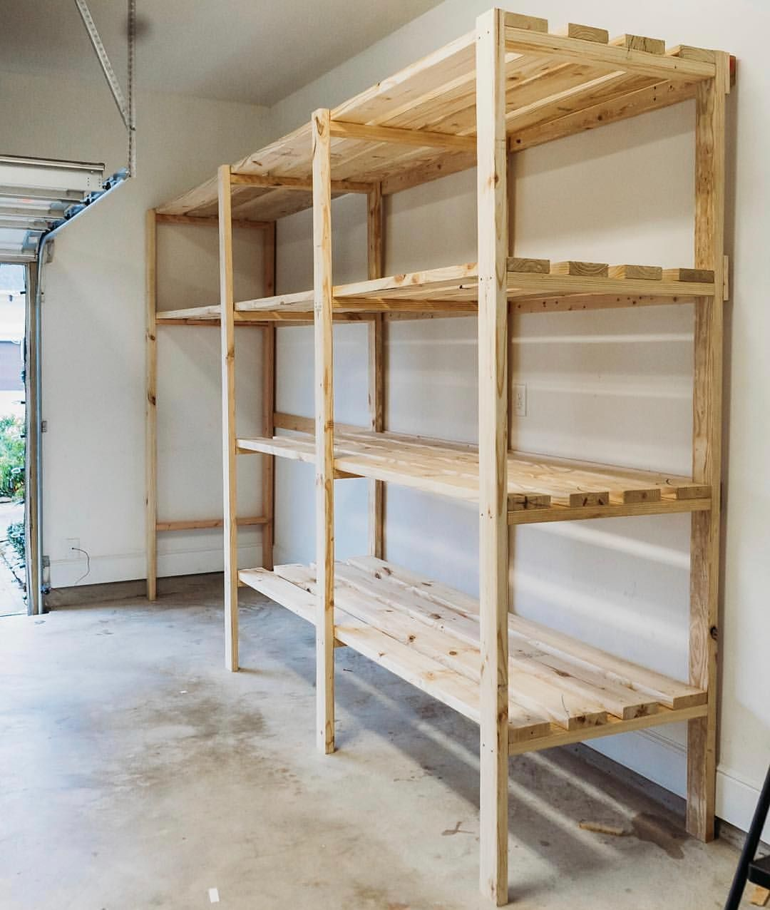 Ana White On Instagram Don T Forget About My Garage Shelving This By Handmakeshome Even Dierksbe In 2020 Garage Shelving Garage Storage Plans Diy Storage Shelves