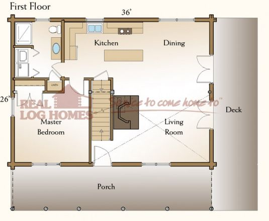 The Sonora (03W0013) | Real Log Homes Floor Plan | Home Modeling ...