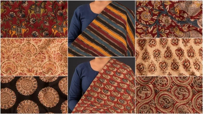480e3e5366 ❃ Hand Block Print Kalamkari Cotton Fabrics ❃ | Fashion | Fabric ...