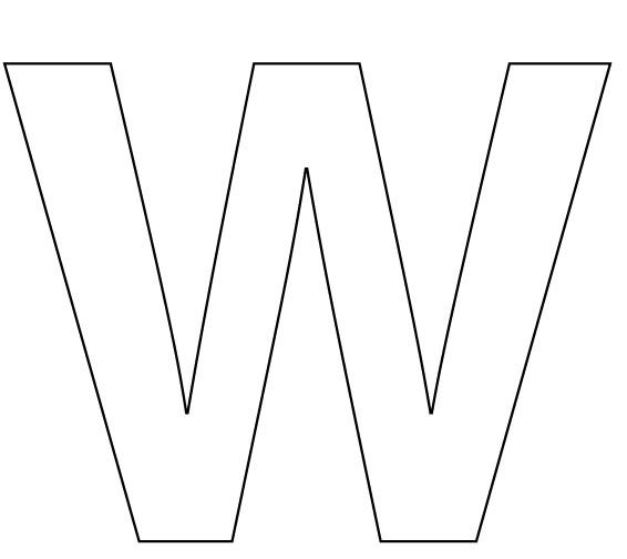 letter w coloring sheet (stickers of the letter w