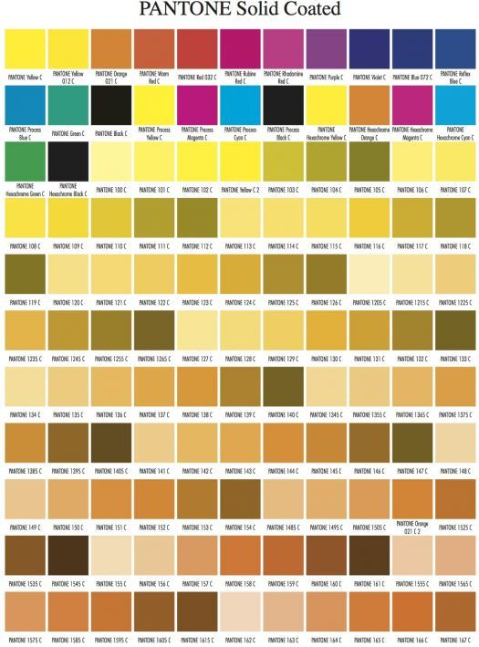Pantone Color Chart Visual Matter Select Palette Swatch