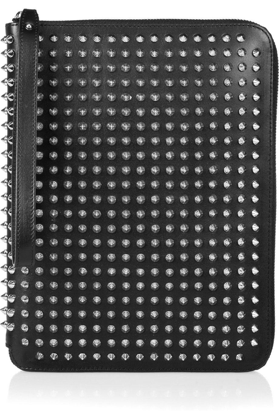 c75f2e1bd5f Christian Louboutin | Studded leather iPad case | NET-A-PORTER.COM ...