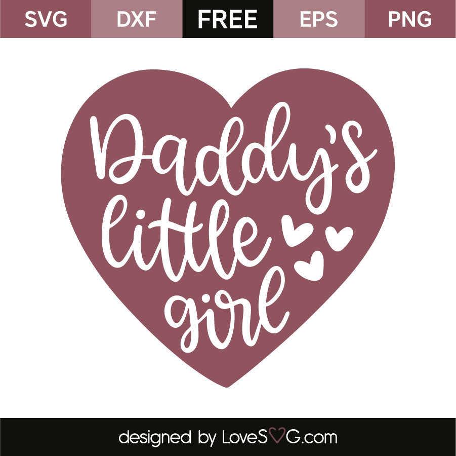 Download Daddy's little girl | Daddys little, Baby svg, Daddys ...