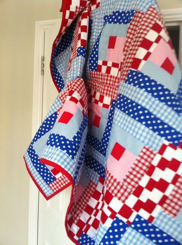 First patchwork quilt