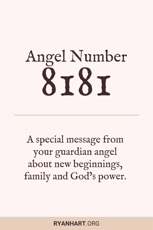 3 Amazing Meanings of Angel Number 8181   Angel Numbers