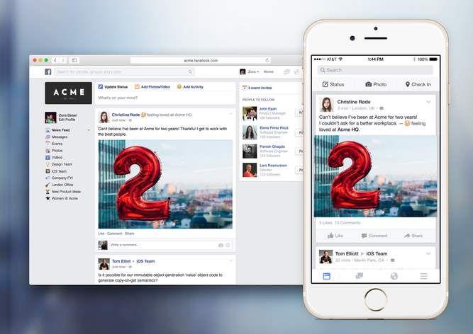 Imaginad que cada empresa conocida tuviera su propio Facebook, una red social privada en la que empleados y directivos de diversos departamentos comparten