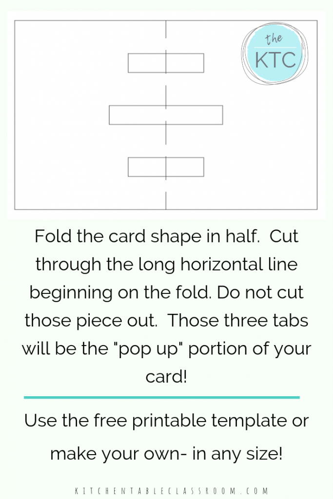 Build Your Own 3d Card With Free Pop Up Card Templates The Kitchen Table Classroom Pop Up Card Templates Pop Up Cards Halloween Pop Up Cards