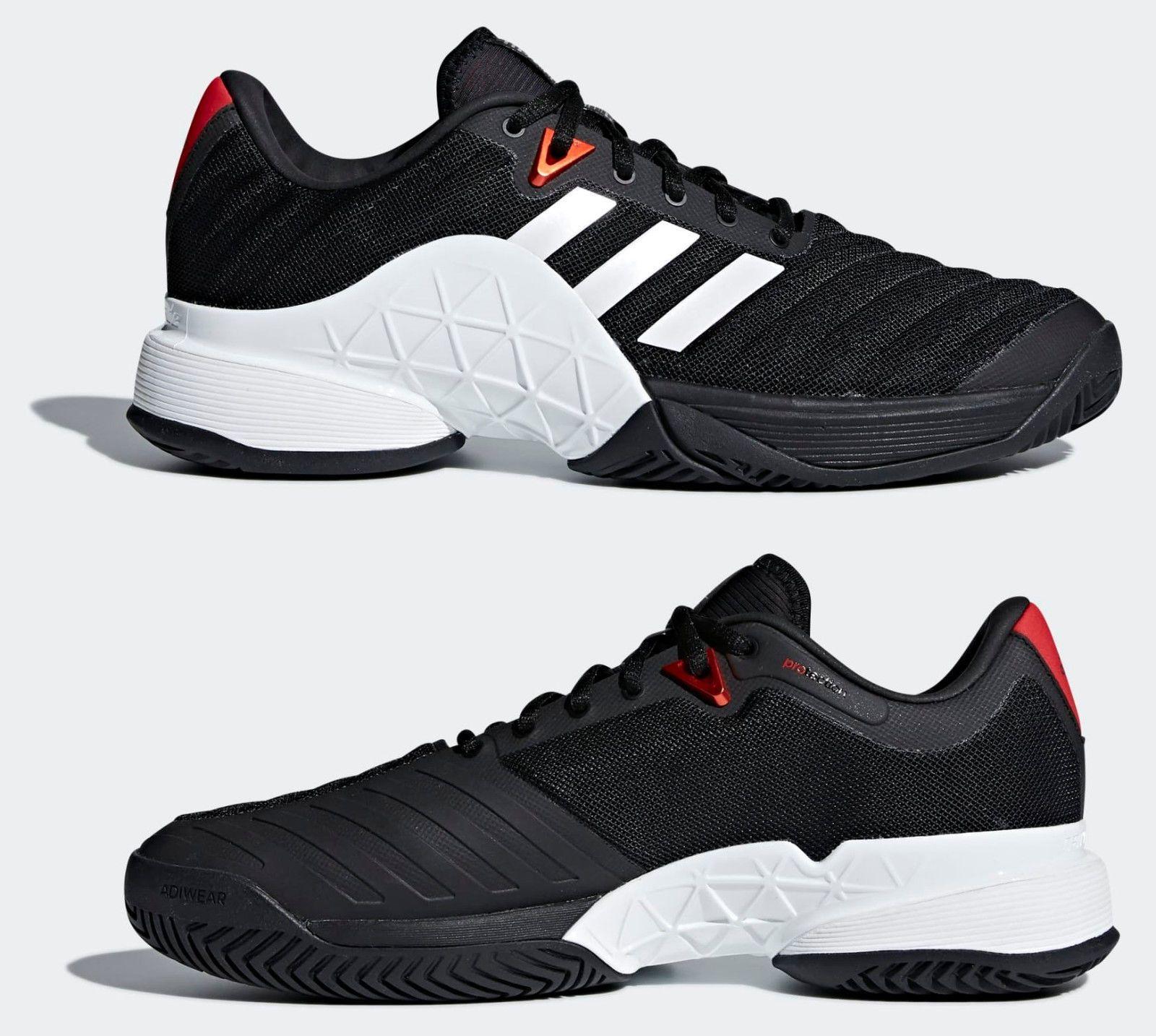 newest 47eb3 66bc5 BRAND NEW ADIDAS Barricade 2018 Men s 12 Tennis Shoes CM7818 Black White  Scarlet