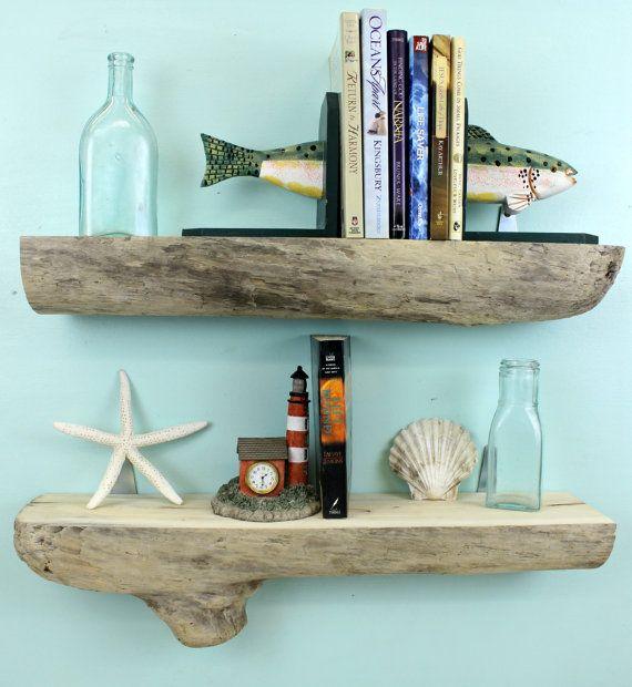 Driftwood Shelves Set Of 2 23 1 4 L Bookshelves Wood Wall Shelves Display Shelves Rustic Shelves Driftwood Shelf Wood Wall Shelf Beach Bathroom Decor