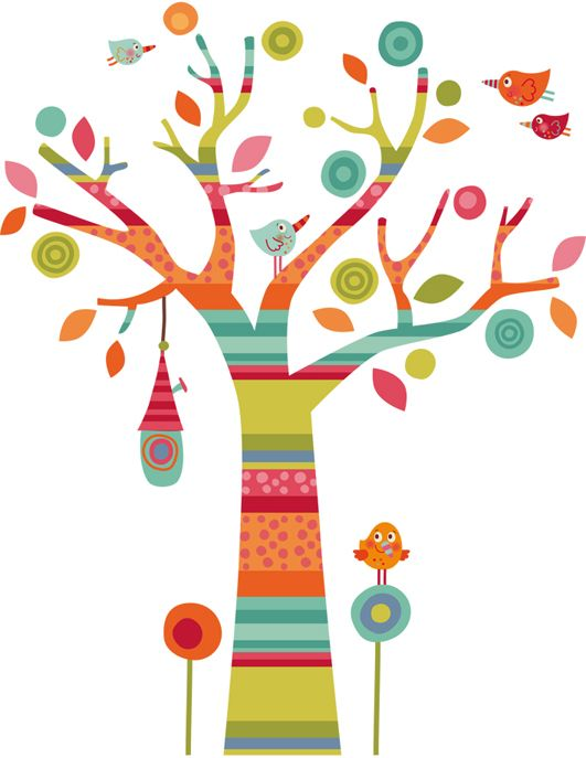 Vinilos infantiles decohappy vinilo infantil arbol for Murales y vinilos infantiles