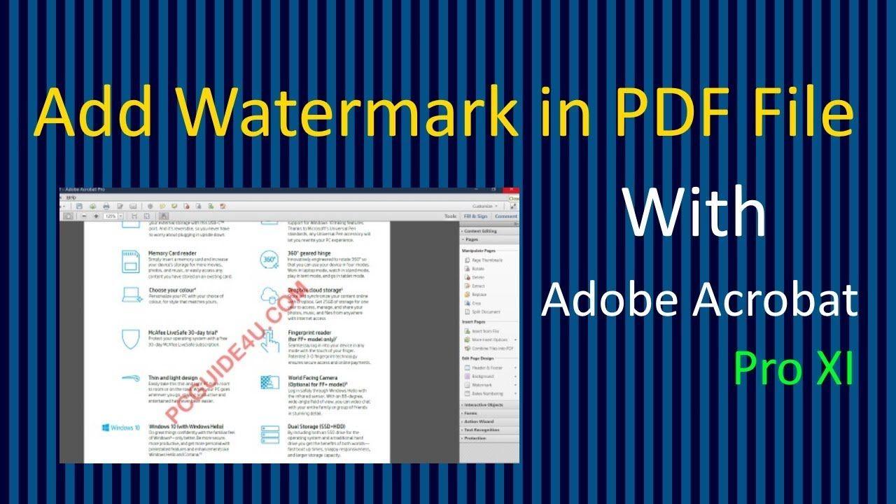 Add watermark in a pdf file pcguide4u watermark pdf