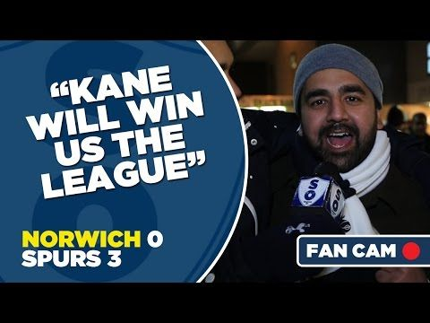 Spurs fans think Harry Kane will fire them to the title after the Norwich win (Videos)