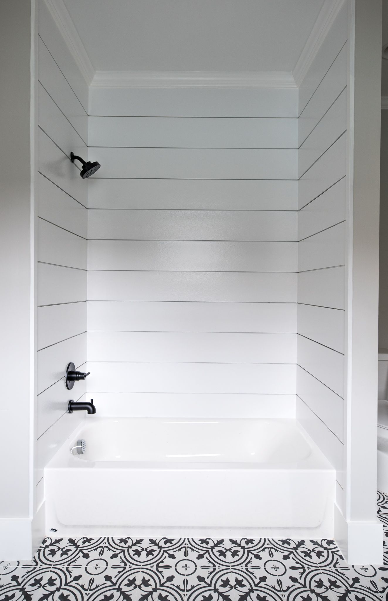 how we did it shiplap shower savvy