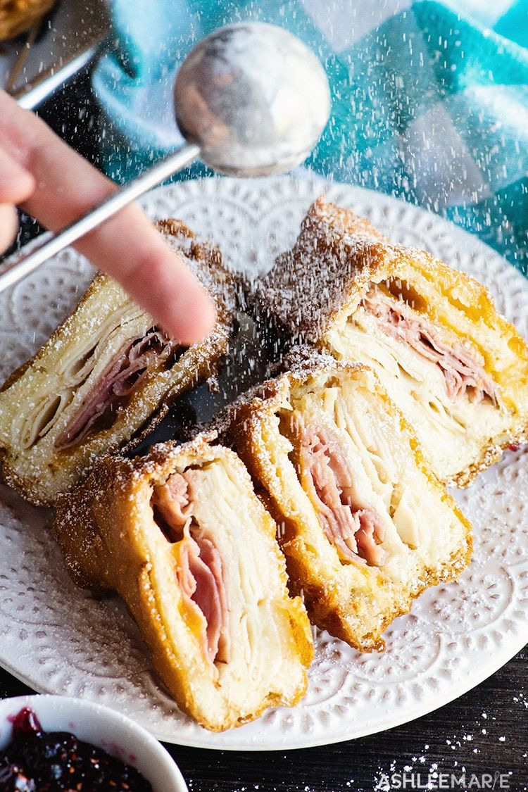 Homemade deep fried monte cristo sandwich - Ashlee Marie