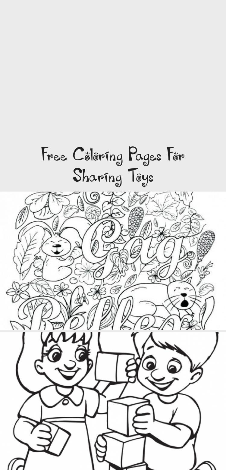 Free Coloring Pages For Sharing Toys In 2020 Diy Toys Free Coloring Pages Free Coloring
