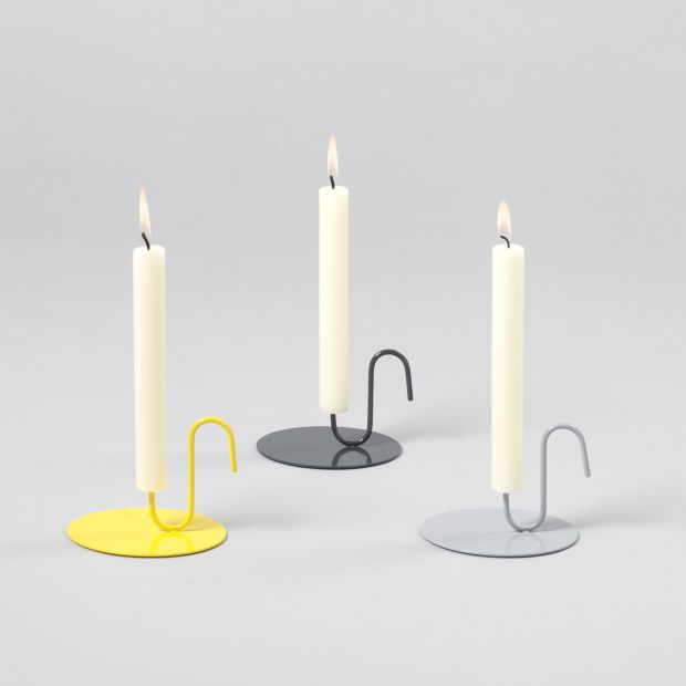 Spike candle holder grey colours now