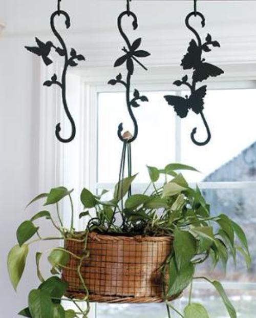 Wrought Iron Decorative Butterfly S Hook Hanging Plants Outdoor Hanging Plants Hanging Potted Plants