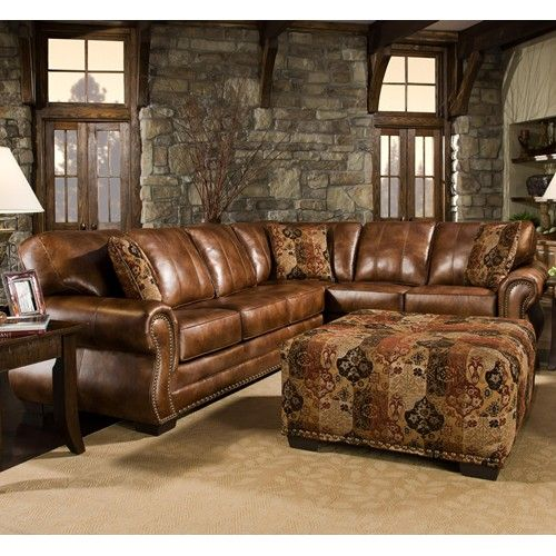 Corinthian 5300 Traditional Styled Sectional Sofa With