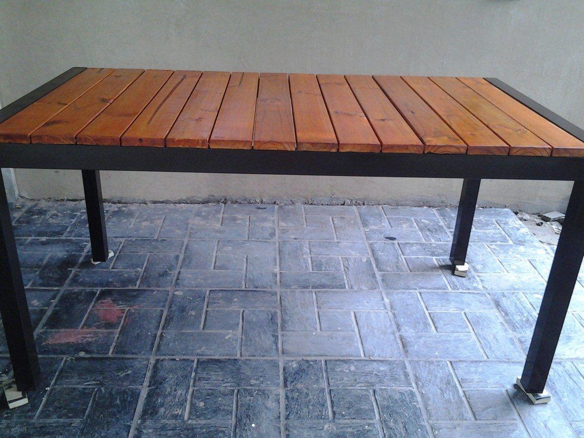 Mesa para quincho reforzado y madera cosas for Mesas de madera para jardin