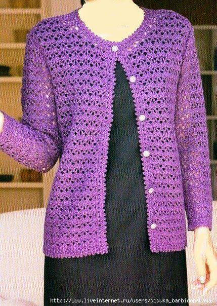 Bellissima Giacchina Classica Alluncinetto Amor Crochet