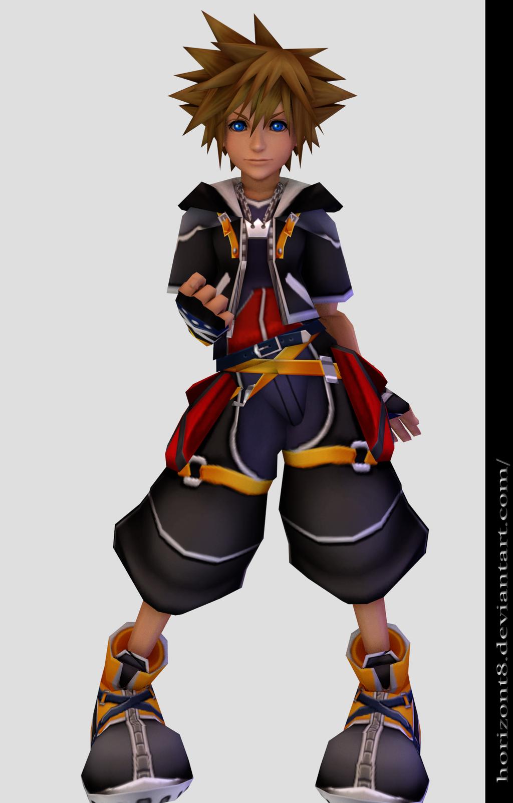 Sora Kingdom Hearts By Horizont8 D5x34bw Png 1024 1603