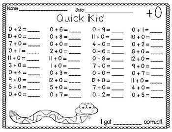 Mad Minute Math Worksheets Kindergarten