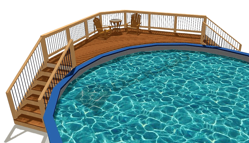 Deck Plan 18 44 Decksgo Plans Pool Deck Plans Decks Around Pools Pool Deck