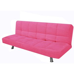 Pink Futon To Go Under The Loft Bed For Combo Reading E Sleepover Option