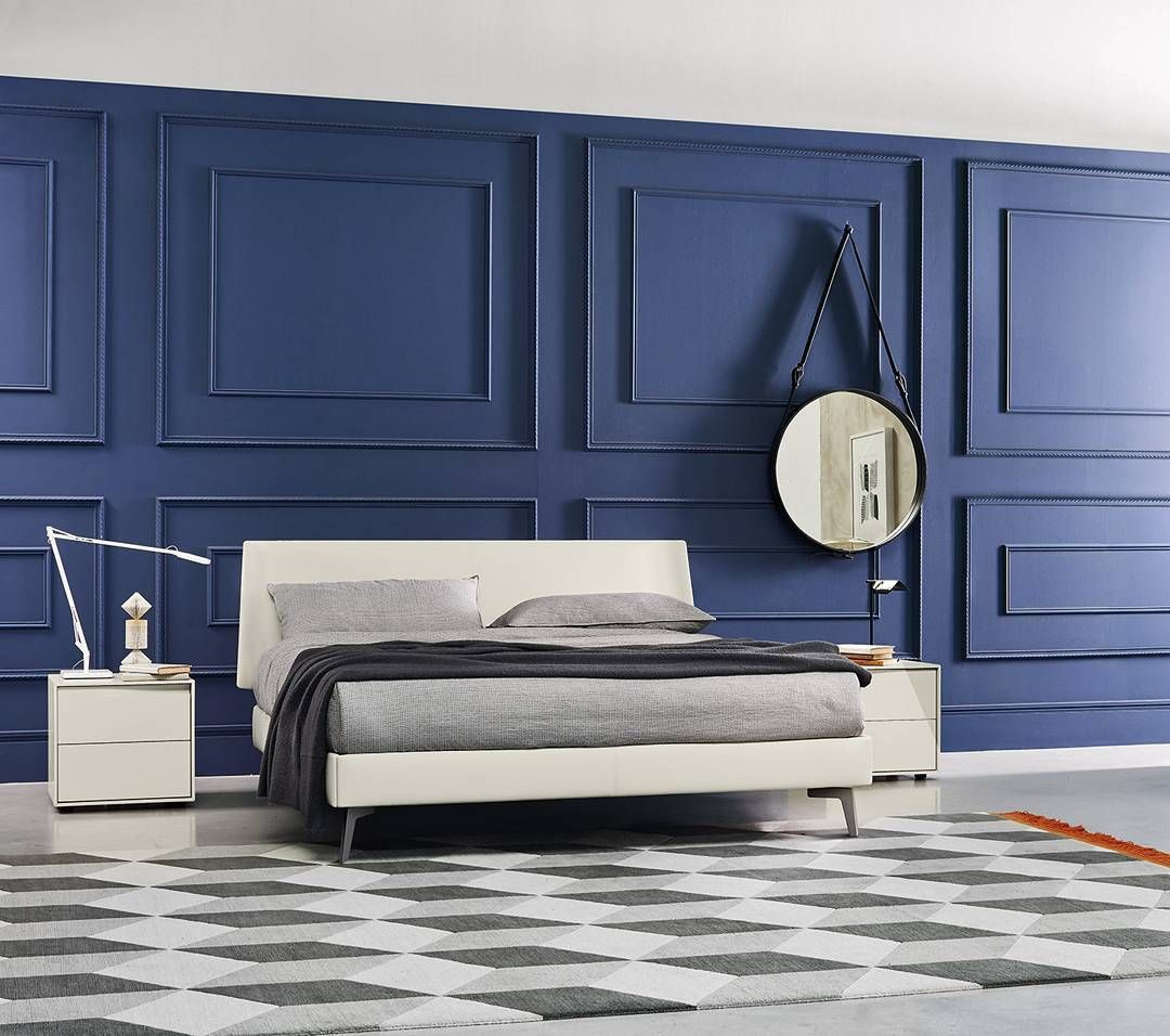 3D Wand Design Trend 2017 #einzigartig #exklusiv #walldecor #stuck  #wallpaper #interiordesign #wandgestaltung #tapete #trend2017 #roundmirror  #bedroom #blau ...