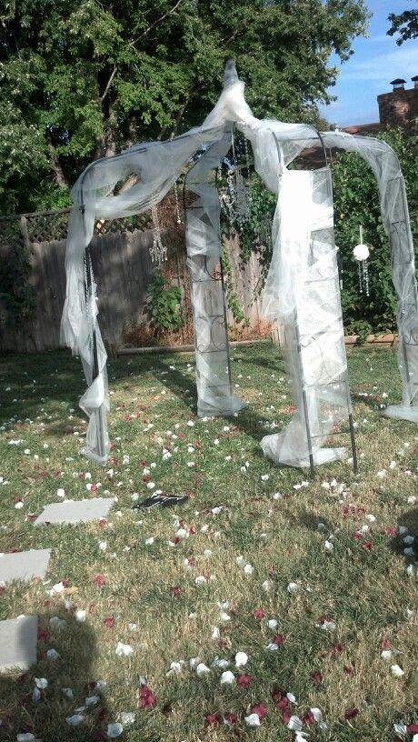 Diy Wedding Gazebo With Chandeliers Backyard Transitional