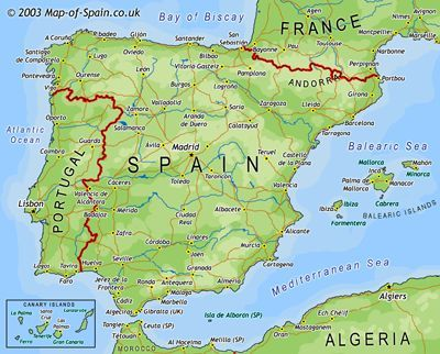 Map Of Spain Planning To Travel To Barcelona A Few Places