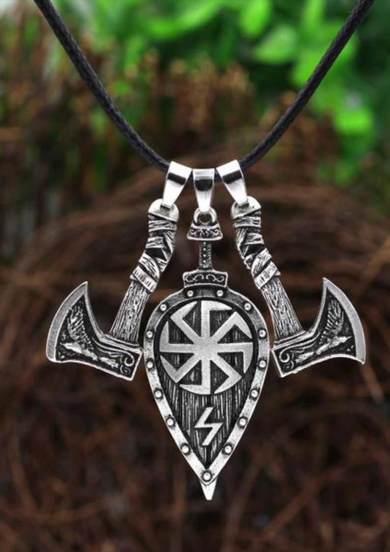 Valknut Thor/'s Hammer with 5 Viking Rune Beads DIY Amulet Pendants Necklace