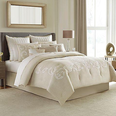 manor hill verona king comforter set in natural