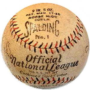 vintage spalding official national league baseball baseball