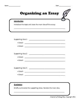Organizing An Essay  Writing Template  Graphic Organizer  Tmf