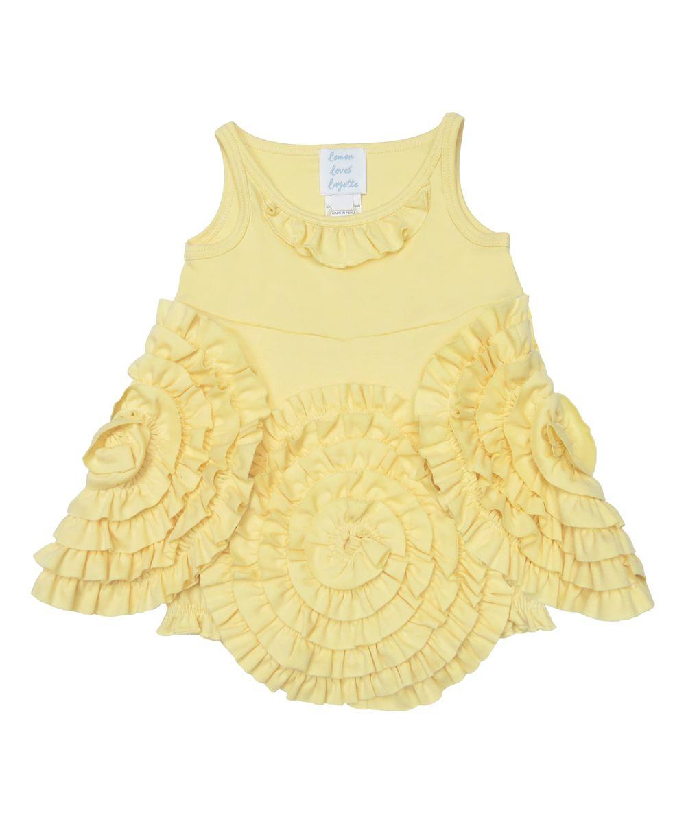 ba0414ef5 Double Cream Marigold Skirted Romper - Infant