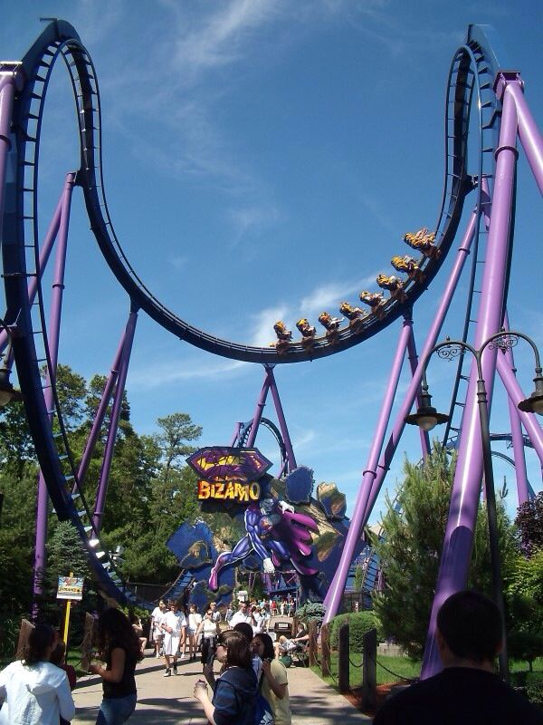 Bizzaro Six Flags Great America Nj Six Flags Great Adventure Roller Coaster Scary Roller Coasters
