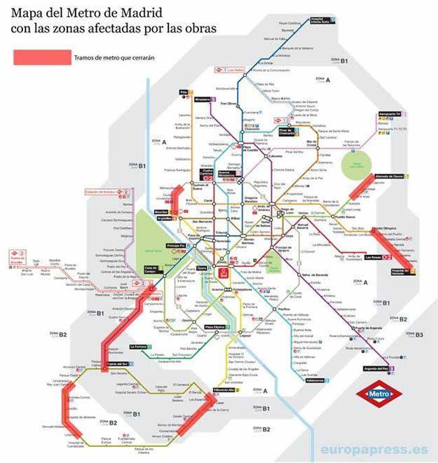 Mapa Metro Madrid Zonas.Resultado De Imagen De Zonas De Madrid Metro Mapas Plano