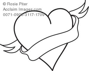 black and white hearts clip art - Google Search | art | Pinterest ...