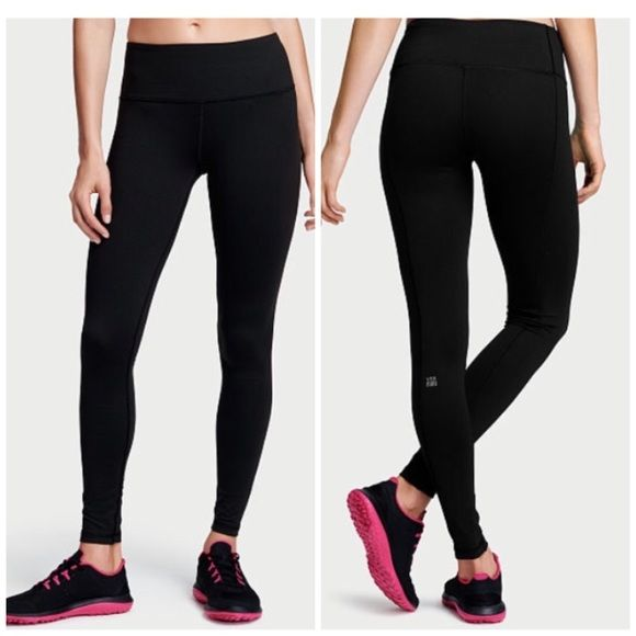 b59a869836932 VS sport knockout tight New with tags VS sport knockout tight. All black.  77% nylon 23% Lycra. Size M regular Victoria's Secret Pants Leggings